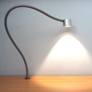 Desk lamp flexible rear side fixation LIO BUREAU without switch on desk