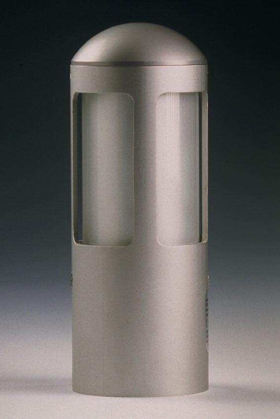 Buitenlamp 19 cm XS 360 graden lichtuitstraling rondom in aluminium