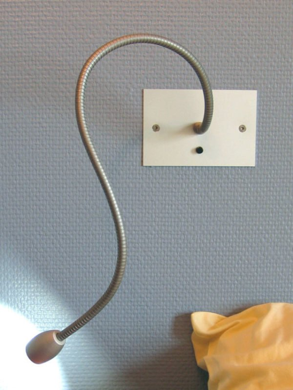 Reading lamp for wall box LOLO RESTER with flexible switch and LED