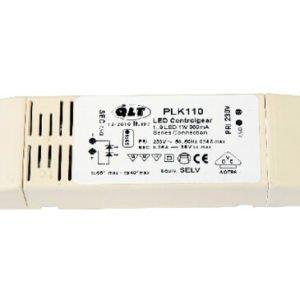 led transformator 350 mA voor 1 tot 9 led's PLK110 QLT