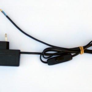 LED transfo 350mA met netsnoer en schakelaar PLP102 QLT voor 1 tot 2 led's