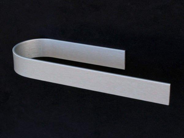 keukenrolhouder design zelfklevend in geanodiseerd aluminium met een open zijde