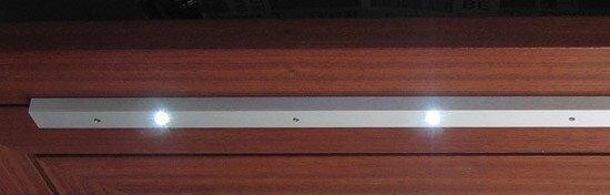 led profiel met afstand van 250 mm tussen de led's