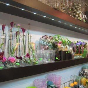 led profiel inbouw in bloemenwinkel