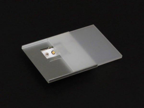 nachtverlichting vierkant 8x8 cm met led om vast te kleven
