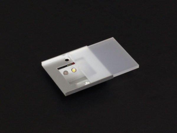 nachtverlichting vierkant 6x6 cm met led om vast te schroeven