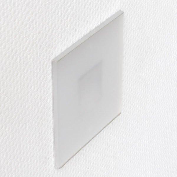 discrete oriëntatieverlichting led 10 x 10 cm op wand