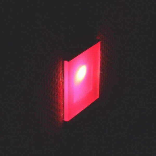 oriëntatieverlichting led met rode kleurenfilter 6 x 6 cm