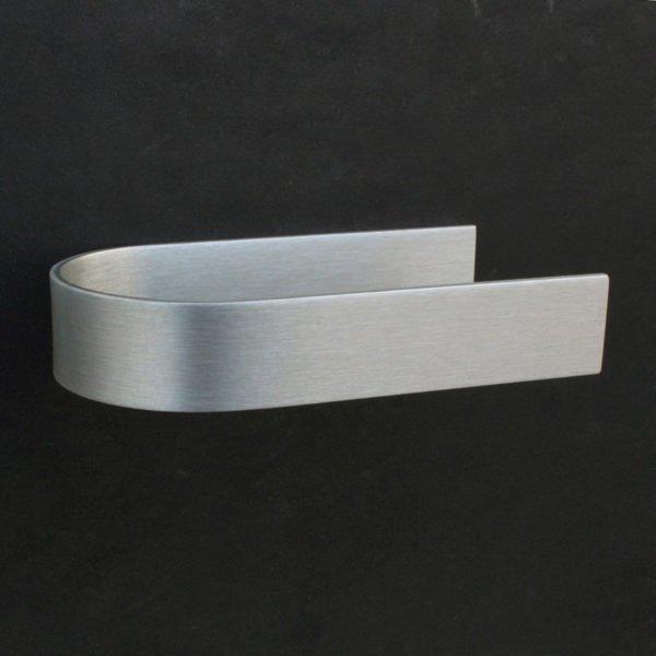 toiletrolhouder design zelfklevend in geanodiseerd aluminium met een open zijde
