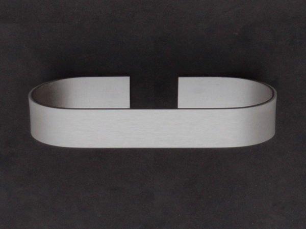 handdoekhouder zelfklevend 15cm in aluminium met afgeronde hoeken