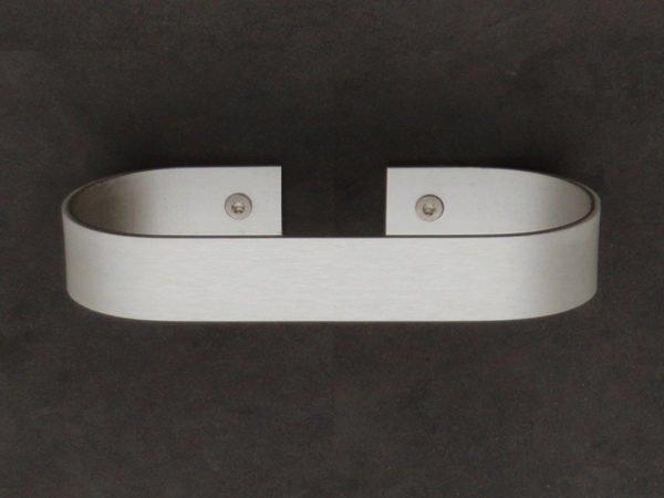 handdoekhouder 15 cm aluminium met schroeven op wand bevestigd