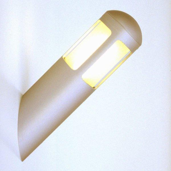 Wandlamp opbouw buiten WALL 360 graden lichtuitstraling rondom aluminium kleur