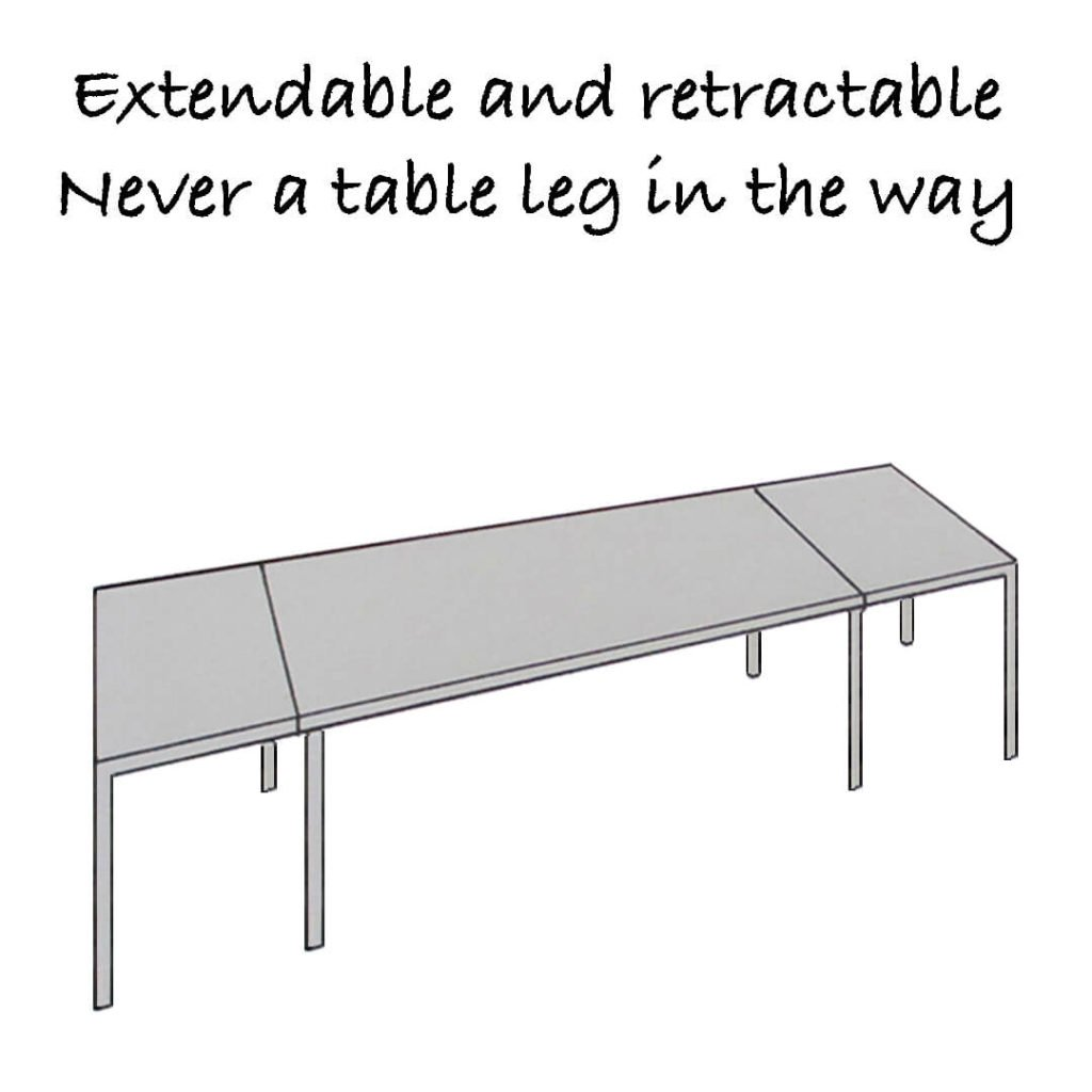 Extendable and retractable